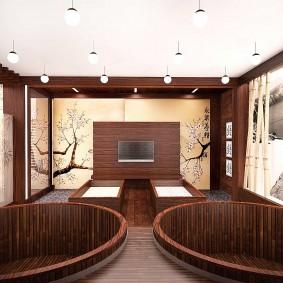 décoration de salle de bain de style japonais