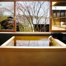 décor de photo de salle de bain de style japonais