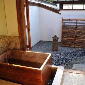 idées de décoration de salle de bain de style japonais