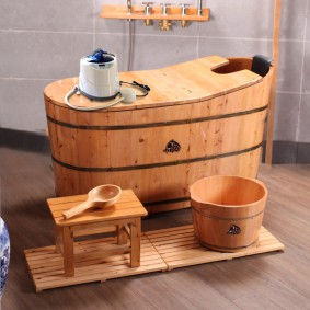 photo de salle de bain de style japonais