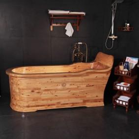 photo d'intérieur de salle de bain de style japonais