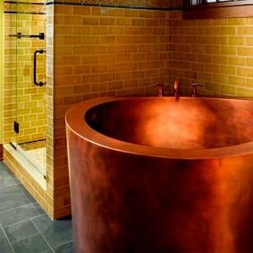 idées d'intérieur de salle de bain de style japonais