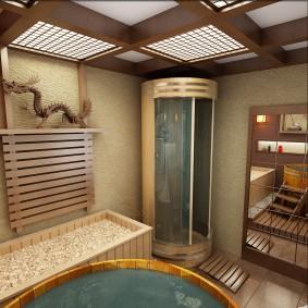 idées de salle de bain de style japonais