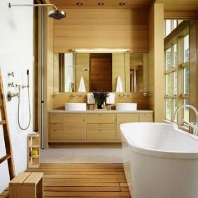 options de photo de salle de bain de style japonais