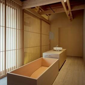 options d'idées de salle de bain de style japonais