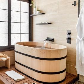 idées de salle de bain de style japonais photos