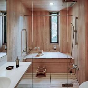 vues de la salle de bain de style japonais