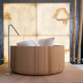 idées d'espèces de salle de bain de style japonais