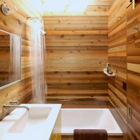 aperçu de la salle de bain de style japonais