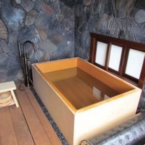 vues de conception de salle de bains de style japonais
