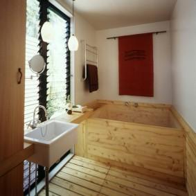 conception de photo de salle de bain de style japonais
