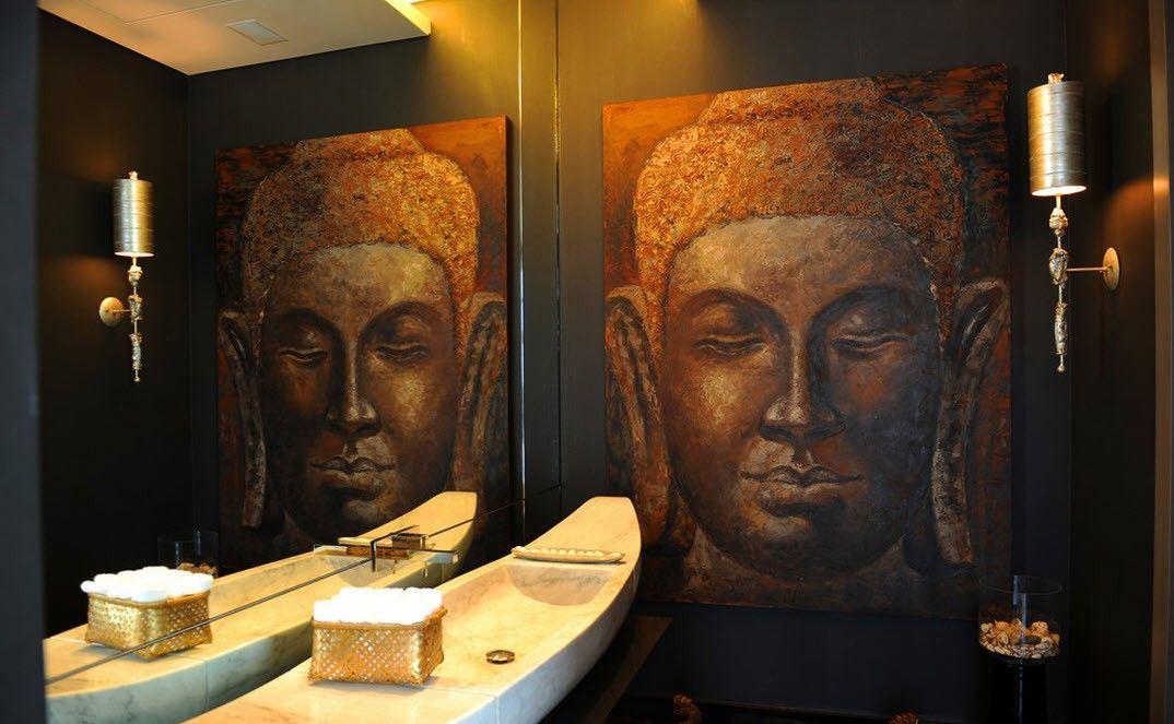 Décor de salle de bain japonais