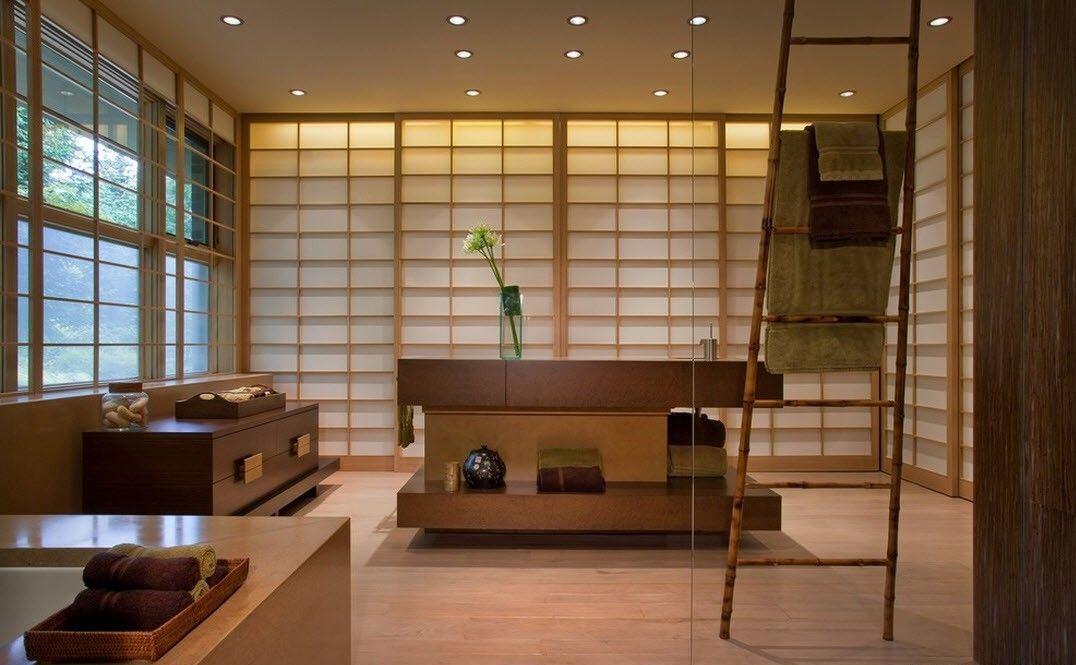 examen de salle de bain de style japonais