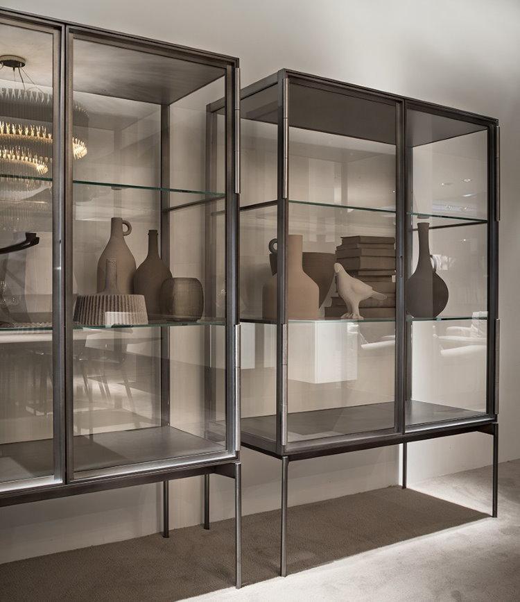 Hộp trưng bày kim loại cho đĩa gốm