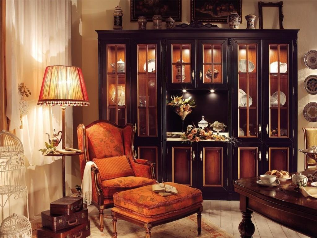 Nội thất phòng khách với vỏ gỗ chắc chắn