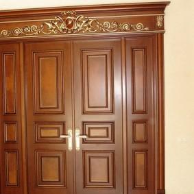 portes d'entrée en bois options idées
