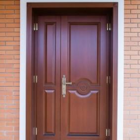 options de photo de porte en bois d'entrée