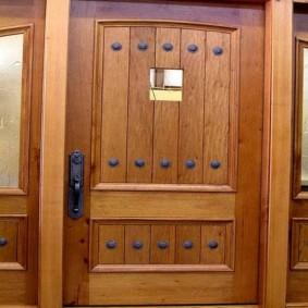 portes d'entrée en bois options photo
