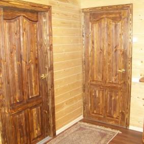 portes d'entrée en bois idées de conception