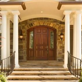 portes d'entrée en bois types de décoration