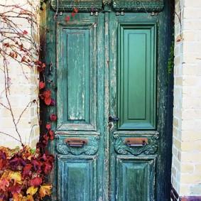 portes d'entrée en bois idées de décoration