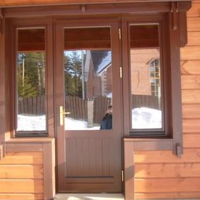 entrée photo portes en bois