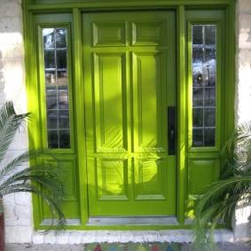 portes d'entrée en bois idées intérieures