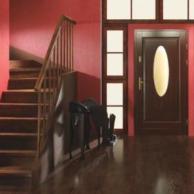décoration photo porte d'entrée en bois