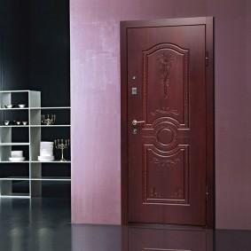 conception d'idées de porte en bois d'entrée