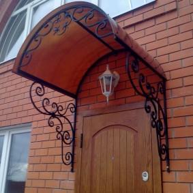idées de conception de porte en bois d'entrée