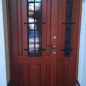 conception de photo de porte en bois d'entrée