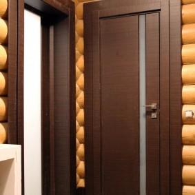 conception de porte d'entrée en bois