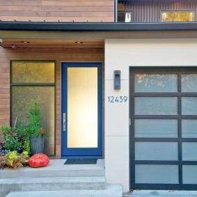 portes d'entrée en bois types de photos
