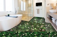 Sàn 3D trong ảnh phòng tắm