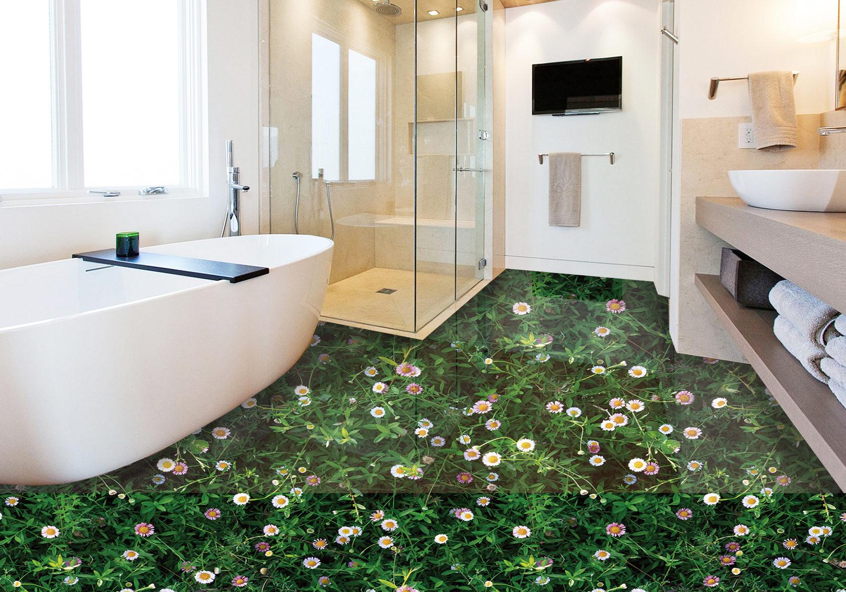 Plancher 3D dans la salle de bain