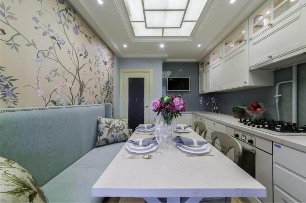 papier peint intissé dans la cuisine