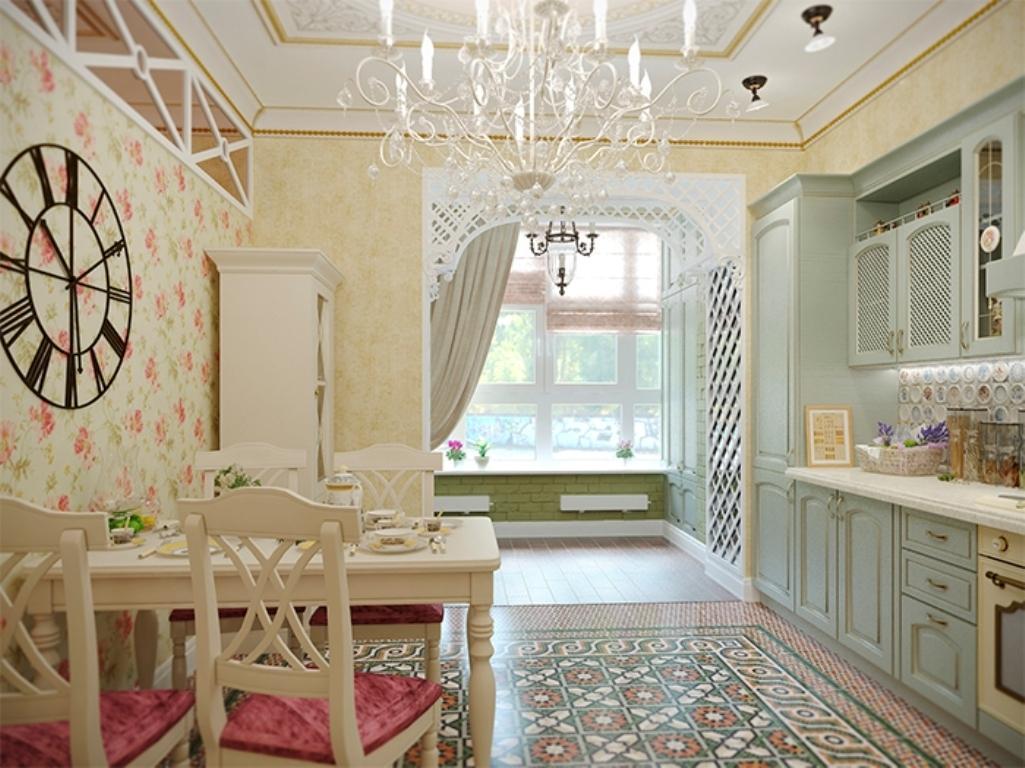 Papier peint style Provence
