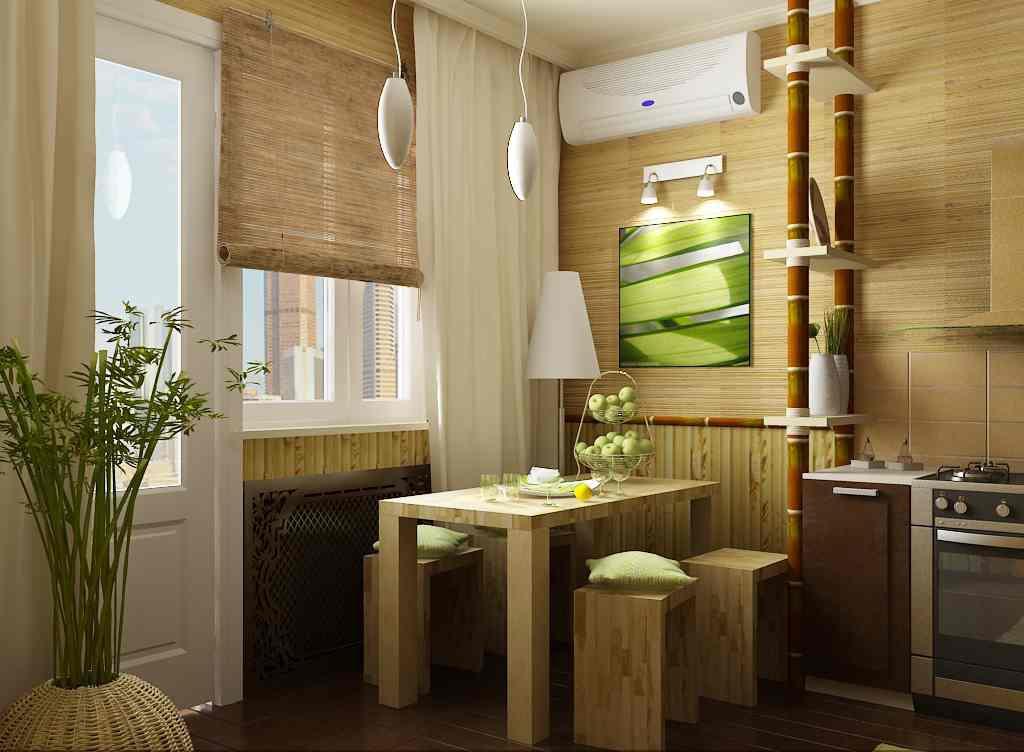 papier peint en bambou