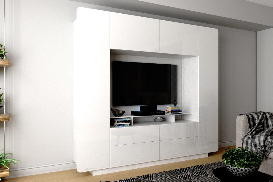 Place pour une télévision dans un salon lumineux