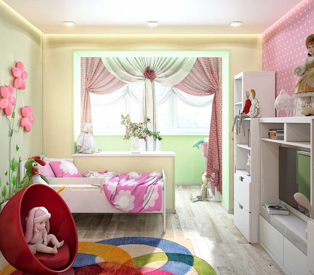 עיצוב חדר ילדים עם מרפסת