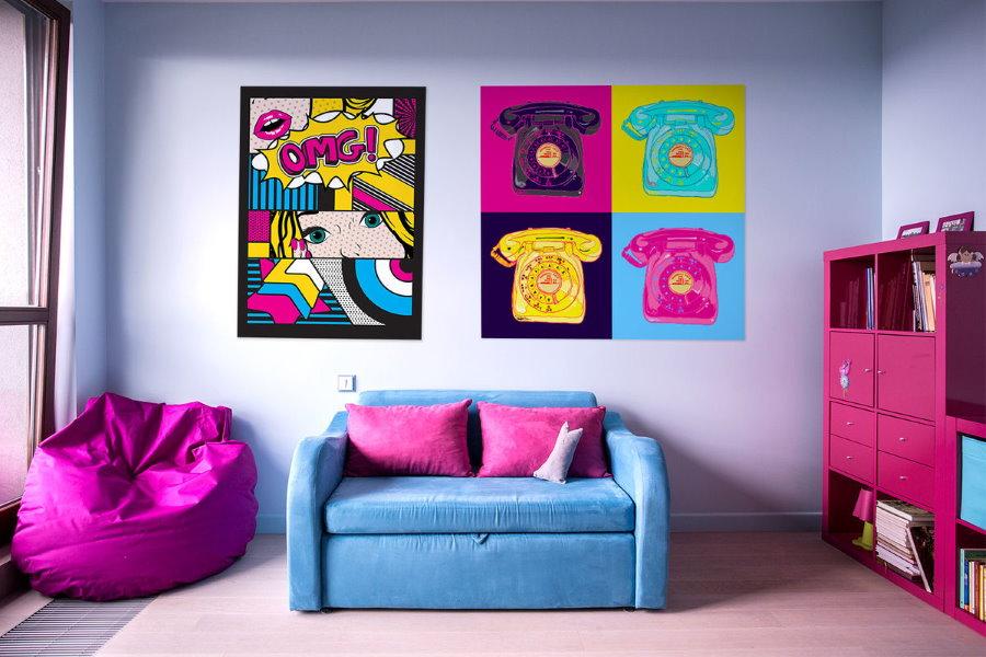 Décor de chambre pop art