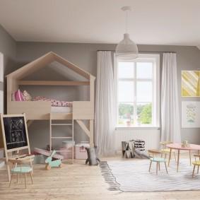 photo de décor de maisonnette pour enfants