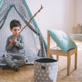 décor de photo de maison de jeu pour enfants