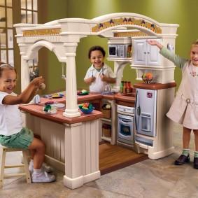 maison pour une fille avec une cuisine