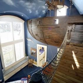 maison pour bateau pirate garçon