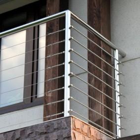 Garde-corps de balcon en acier inoxydable