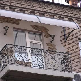 Décor façade bâtiment pierre artificielle