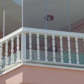 Balcon classique en plein air