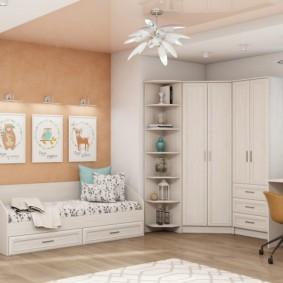 Meubles d'armoire en blanc