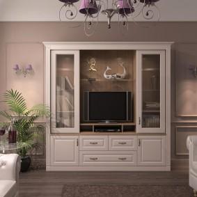 Mur compact pour un petit salon